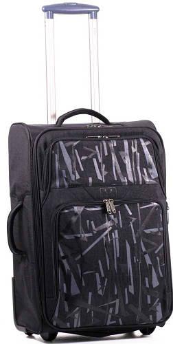 Дорожный вместительный чемодан из нейлона 42 л. Bagland 3767024-3, черный