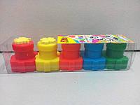 Пальчиковые краски Зебра с формочками, Olli (5 цветов), 20 мл., фото 1