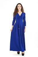 Платье вечернее длинное с запахом на груди, фото 1