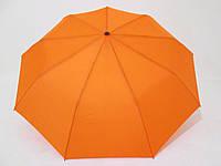 Женский зонт полуавтомат однотонный оранжевый