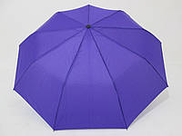 Женский зонт полуавтомат однотонный фиолетовый