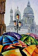 """Рисование по номерам на холсте """"Краски дождя"""" 40*50 см. Идейка"""