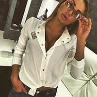 Блузка белая шифоновая