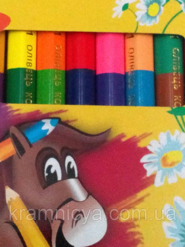 олівці кольорові шестигранні Marco