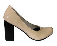 Женские туфли кожа св.бежевый лак, фото 1