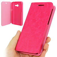 Чехол Книжка Original Cover Leather Case для Asus Zenfone 4 A400CXG Pink