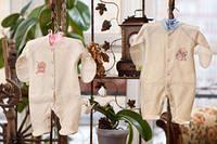 Комбинезон - человечек для новорожденных с царапками (кулир)