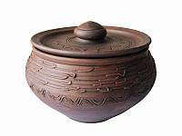 Чугунок большой Узор СК (Станиславcкая глиняная посуда)