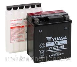 Акумулятор для мотоцикла YUASA YTX7L-BS сухозаряженный AGM 6Ah 100A 114x71x131, фото 2