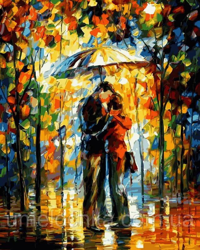 Картина по номерам Babylon Поцелуй под зонтом, худ. Афремов, Леонид (VP527) 40 х 50 см