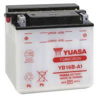 Аккумулятор для мотоцикла сухозаряженный YUASA YB16B-A1  16AH 160X90X161