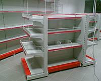 Стеллаж островные в магазин. Мебель для магазина при АЗС. WIKO (ВИКО). Торговое оборудование для АЗС