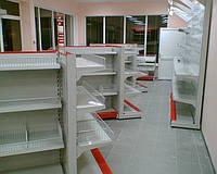 Новый стеллаж торговый в магазин при АЗС. Стеллажи торговые для АЗС. Торговое оборудование для АЗС, фото 1