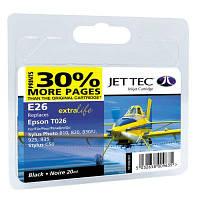 Картридж Jet Tec EPSON Stylus Photo 810 Black (аналог C13T026401) (110E002601)