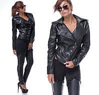 Куртка женская из кожзаменителя на пуговицах P1592