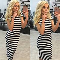Стильное платье в полоску «Морячка»