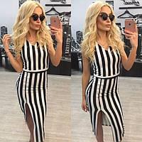 Классическое платье в черно - белую полоску