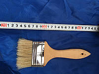 Кисть флейцевая, деревянная ручка 76 мм (Европейка)