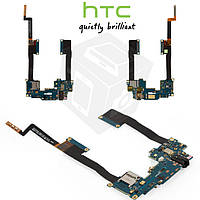 Шлейф для HTC One Max 803n, коннектора наушников, карты памяти, с компонентами (оригинальный)