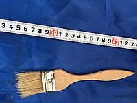 Кисть флейцевая, деревянная ручка 40 мм (Тонкая)