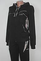 Спортивный женский костюм в стиле  Reebok  капюшон  трикотаж