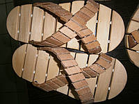 Тапочки для сауны деревянные тип 4