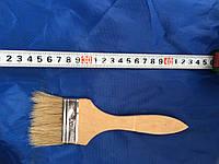 Кисть флейцевая, деревянная ручка 70 мм (Тонкая)