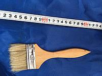 Кисть флейцевая, деревянная ручка 80 мм (Тонкая)