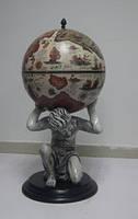 """Глобус бар напольный """"Atlas"""" - слоновая кость Зодиак 42016B-WW"""