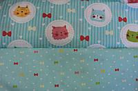 Детское постельное белье из сатина Котики-Бантики