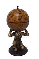 """Глобус бар напольный """"Atlas"""" - коричневый  Зодиак 42016B-WW"""