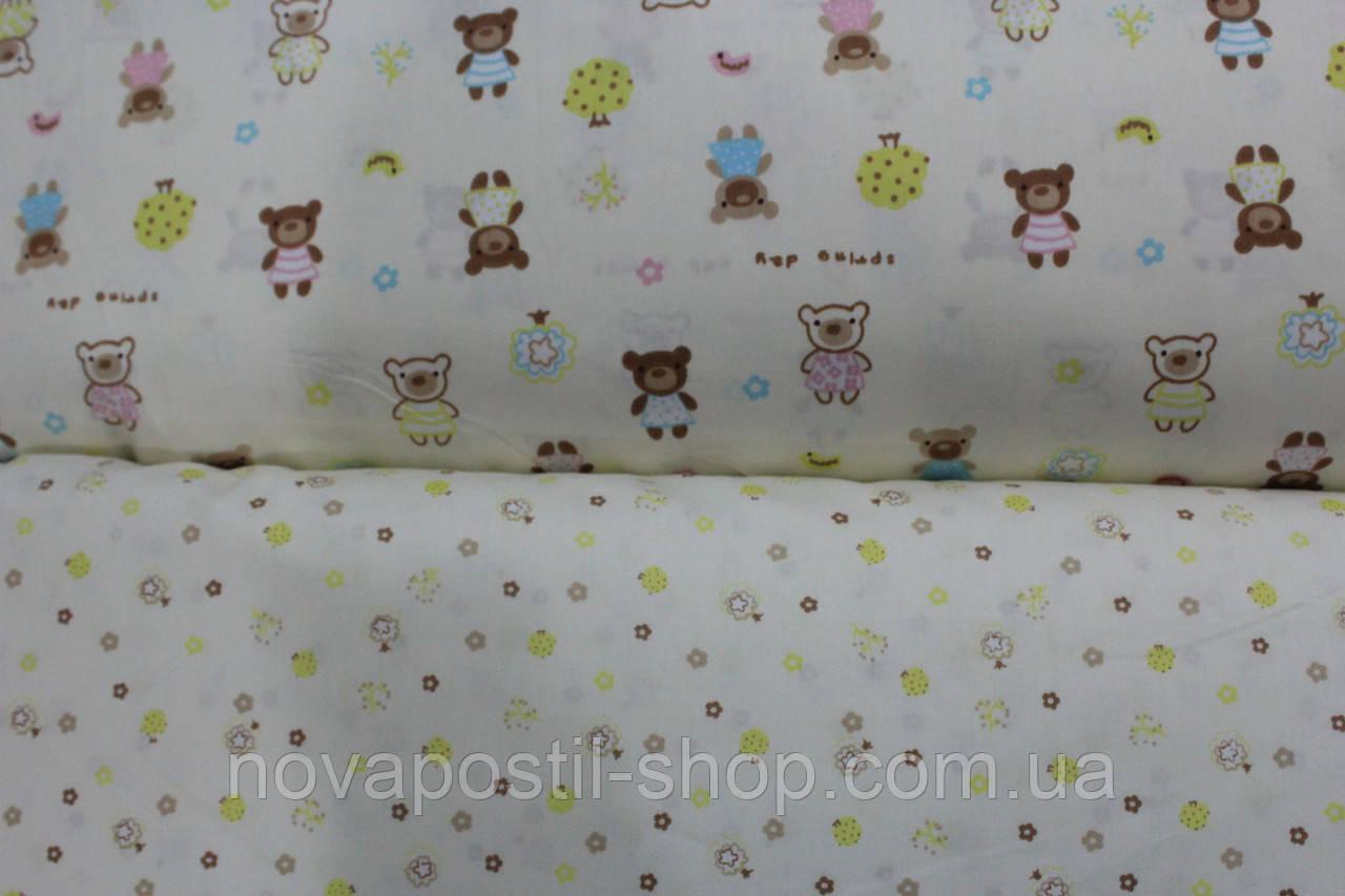 Детское постельное белье из сатина Мишкин сад