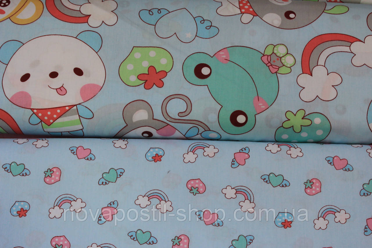 Детское постельное белье из сатина Радуга