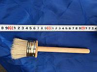 Кисть флейцевая, деревянная ручка 50 мм (Круглая)