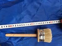 Кисть флейцевая, деревянная ручка 75 мм (Круглая)