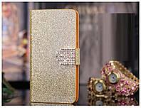 Чехол книжка для Sony Xperia L36H C6603 C6002 deep gold