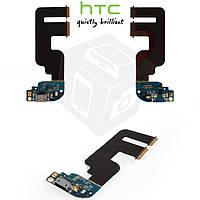 Шлейф для HTC One mini 2, коннектора зарядки, микрофона, с компонентами, оригинал