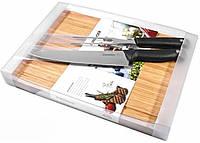 Кухонный набор: нож шеф-повара, вилки для мяса, разделочная доска Wenger Grand Maitre 3 10 244 черный