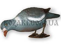 Подсадное чучело ГОЛУБЬ пластмассовый Hunting Birdland кормящийся на ногах + палка