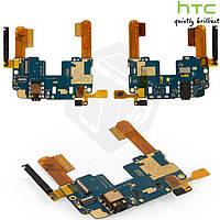 Шлейф для HTC One mini 601n, кнопок звука, кнопки включения, коннектора наушников, подсветки дисплея, оригинал