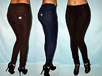 Красивые лосины под джинс в расцветках, размеры норма и батал 42-64
