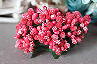 """Добавка """"сложные тычинки"""" 144 шт/уп оптом красно-кораллового цвета, фото 1"""