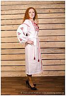 "Платье вышитое фасон № 1 ""Вишукана"" лён ( арт. РК1.0.1-120 ), фото 1"