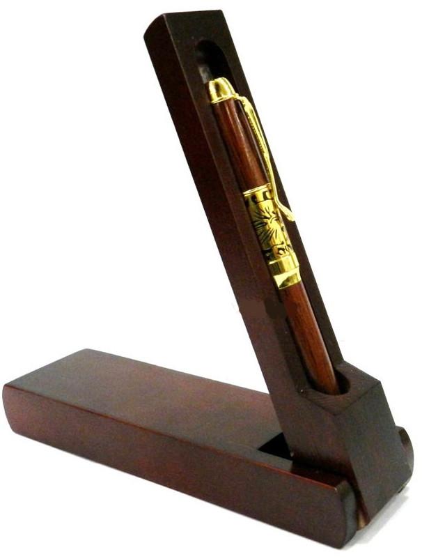 Ручка шариковая CAMIS 3149 Дерево в деревянном футляре-подставке