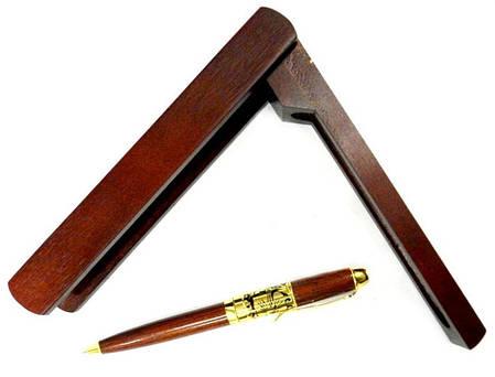 Ручка шариковая CAMIS 3149 Дерево в деревянном футляре-подставке, фото 2