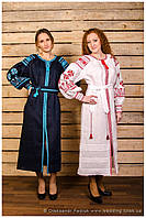 "Платье вышитое ""Княжна"" лён, фасон № 1 ( арт. PK1.3.2-315 ), фото 1"