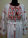 Белое платье,вышитое,лён , фото 3