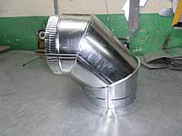Коліно 87* ф130мм нерж. 0,5мм