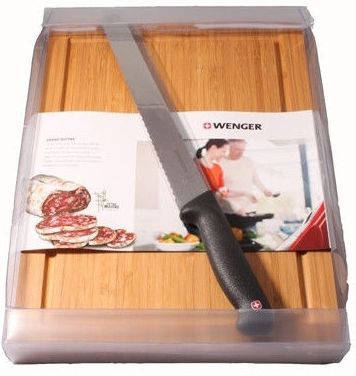 Швейцарский кухонный набор для нарезки хлеба Wenger Grand Maitre 3 10 255 черный
