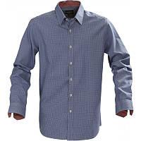 Мужская рубашка Brighton от ТМ James Harvest (синяя\чёрная\серая клетка)